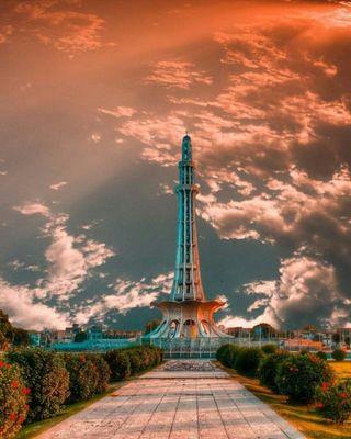 Обои на телефон сад, природа, пейзаж, парк, пакистан, punjab, pakistani, minar e pakistan, minar, lahore