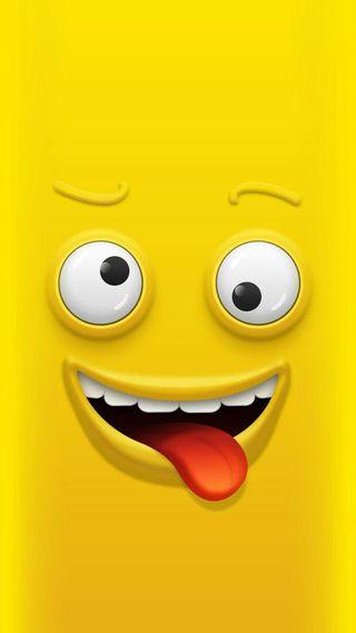 Обои на телефон язык, юмор, рисунки, мультфильмы, лицо, зубы, забавные, желтые, глаза, вкусный