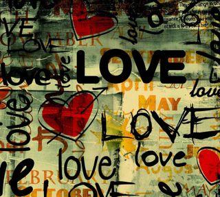 Обои на телефон граффити, сердце, любовь, love