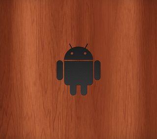 Обои на телефон робот, дроид, логотипы, карбон, деревянные, дерево, волокно, андроид, android