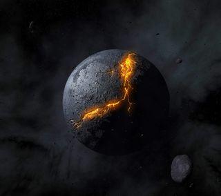 Обои на телефон планета, темные, абстрактные, dark planet