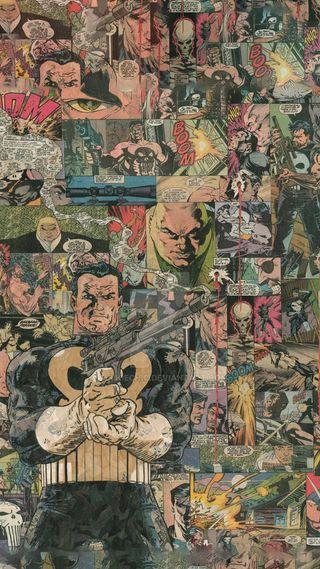Обои на телефон каратель, супергерои, мстители, марвел, комиксы, marvel