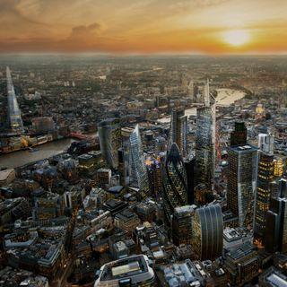 Обои на телефон англия, солнце, лондон, здания, закат, город, британия, london town