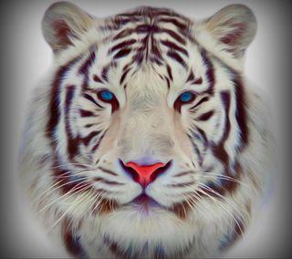 Обои на телефон рисунки, тигр, нарисованные, животные, векторные, абстрактные