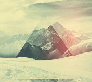 Обои на телефон цифровое, холмы, арт, абстрактные, trinity hills