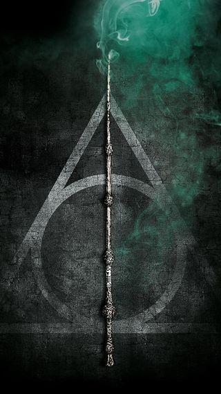 Обои на телефон deathly, dumbledore, hallows, wand, гарри, поттер, хогвартс