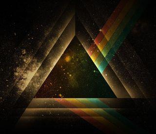 Обои на телефон треугольник, красочные, абстрактные, prism, colorful triangle