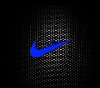 Обои на телефон черные, синие, найк, логотипы, nike