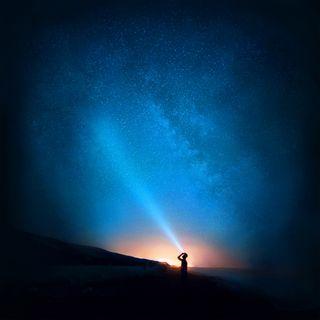 Обои на телефон молния, хуавей, небо, звезды, huawei