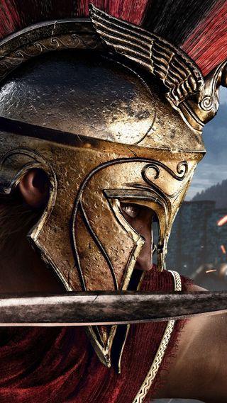 Обои на телефон odyssey, res, игра, меч, крид, ассасин, шлем, хитман, рим