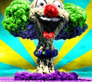 Обои на телефон клоун, облака, грибы, взрыв, hd