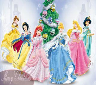 Обои на телефон принцесса, рождество