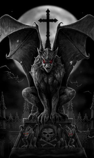Обои на телефон дьявол, хэллоуин, темные, смерть, призрак, ночь, луна, ghost
