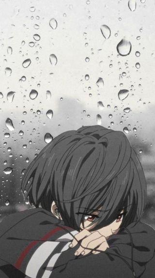 Обои на телефон депрессивные, одинокий, мальчики, мальчик, дождь, грустные, аниме, sad anime, lonely anime boy