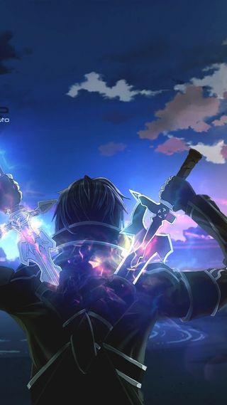 Обои на телефон меч, мальчик, арт, аниме, kiro
