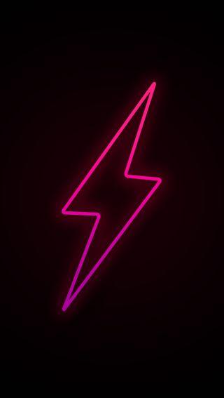 Обои на телефон фиолетовые, черные, розовые, простые, освещение, неоновые, линии, neon lighting, lighning, hd