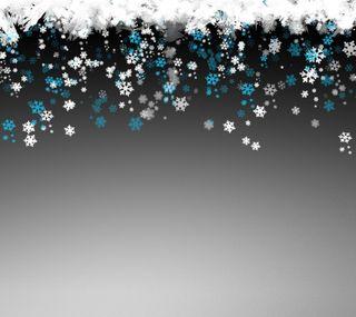 Обои на телефон снежинки, рождество, праздник