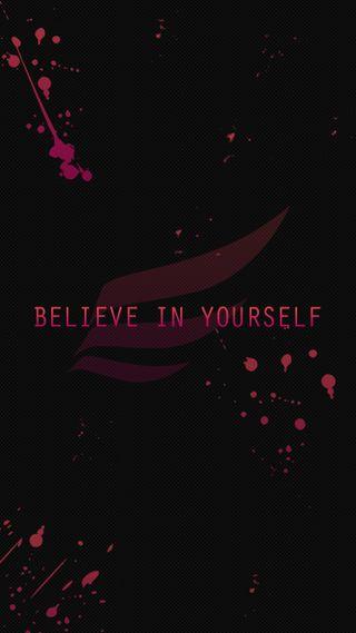 Обои на телефон черные, фан, себя, розовые, крыло, верить, арт, splatter, believe in yourself, art