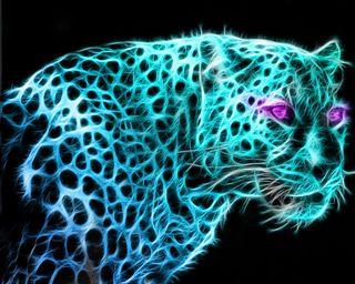 Обои на телефон фрактал, леопард, коты, животные, leopards, leopard fractal