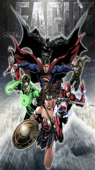 Обои на телефон фонарь, флэш, супермен, справедливость, лига, киборг, зеленые, бэтмен, wonderwoman