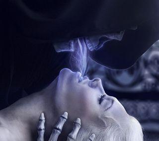 Обои на телефон готические, темные, смерть, поцелуй, жнец, женщина, дыхание, девушки, готы, kiss of death