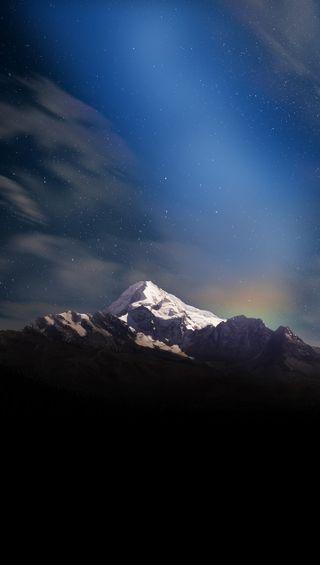 Обои на телефон тьма, темные, снег, горы, mountain in darkness
