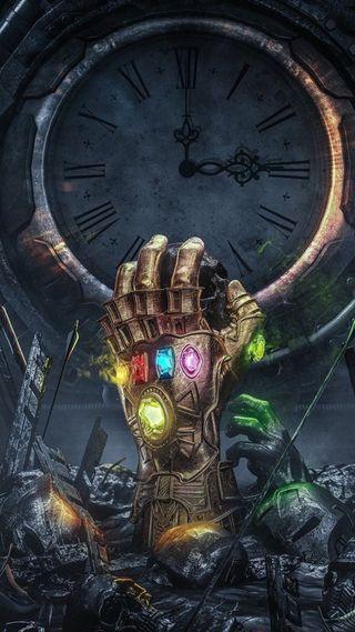 Обои на телефон танос, череп, часы, фильмы, рука, золотые, война, бесконечность