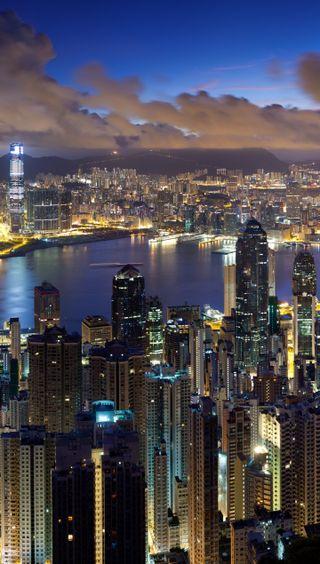 Обои на телефон китай, чистые, природа, пейзаж, конг, город, горизонт, skyline, hong kong