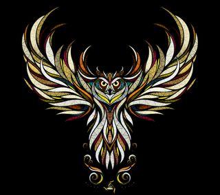Обои на телефон иллюстрации, черные, цветные, сова, картина, дизайн, графические, owl b, graphic design