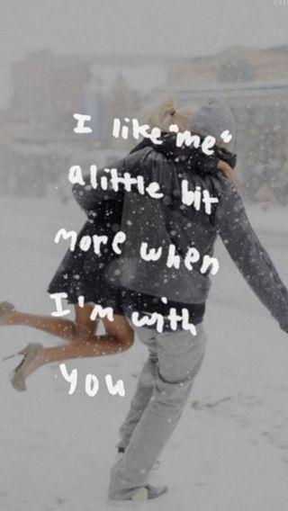 Обои на телефон любовники, цитата, милые, любовь, зима, love, cute winter love