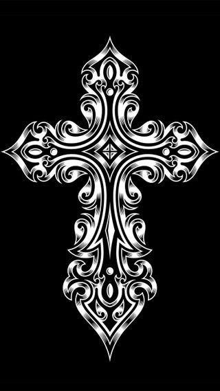 Обои на телефон племенные, черные, темные, крест, духовные, белые, абстрактные