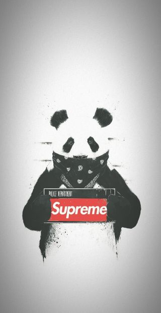 Обои на телефон банда, панда, supreme