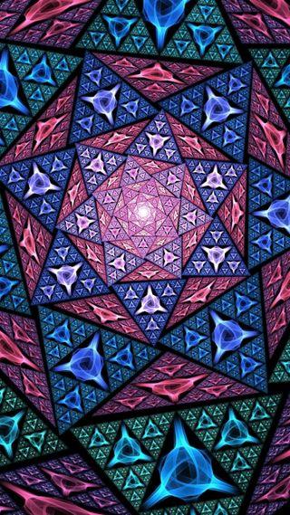Обои на телефон shape glass mosaic, дизайн, стекло, формы, мозаика