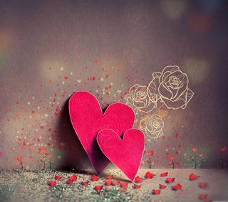 Обои на телефон сердце, любовь, красые, love