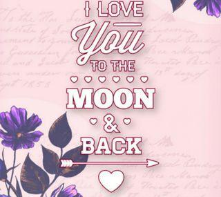 Обои на телефон ты, любовь, луна, love, i love you, back
