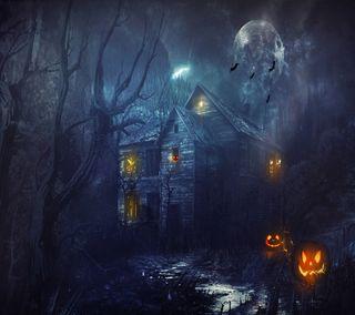 Обои на телефон страшные, хэллоуин, ночь, hallow night
