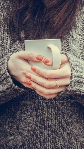 Обои на телефон чай, чашка, фотография, руки, настроение, люди, кофе, женщина, девушки, mug, cup in female hands, cup