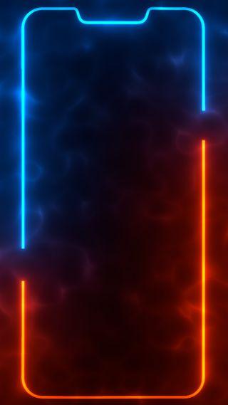 Обои на телефон выемка, темные, свет, самсунг, рамка, оранжевые, дым, граница, амолед, айфон, samsung, oneplus, iphone, double cutout frame 1, amoled