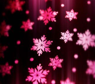 Обои на телефон снежинки, цветы, розовые, приятные, природа, прекрасные, милые, pink snowflakes