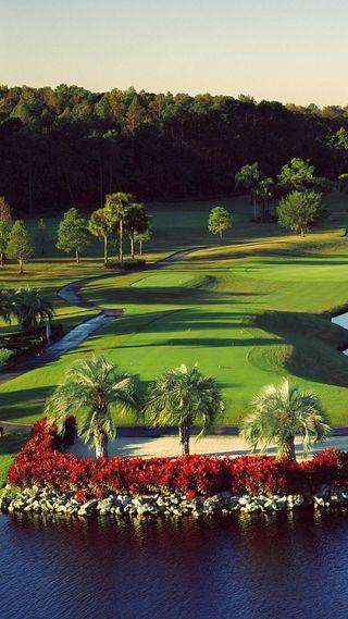 Обои на телефон игроки, гольф, шары, песок, вода, greens, course, clubs