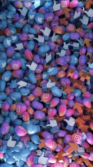 Обои на телефон странные, цвета, фейсбук, сердце, инстаграм, twitter, likes and loves