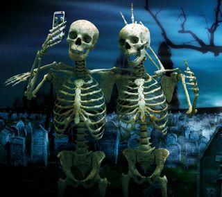 Обои на телефон селфи, друзья, череп, skull selfie, skull friends