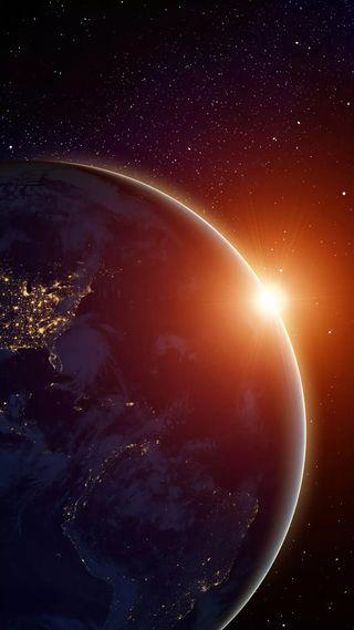 Обои на телефон небо, луна, космос, земля