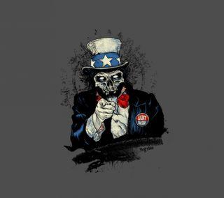 Обои на телефон сэм, зомби, uncle sam zombie, gzsd, egj