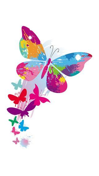 Обои на телефон векторные, бабочки