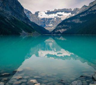 Обои на телефон озеро, красота, классные, зеленые, горы, вода, вид, louise