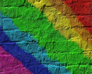 Обои на телефон цветные, стена, радуга, красочные