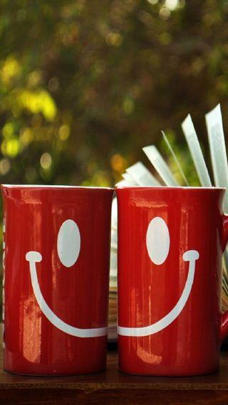 Обои на телефон чай, утро, счастье, счастливые, смайлики, милые, любовь, кофе, love, hd, happy
