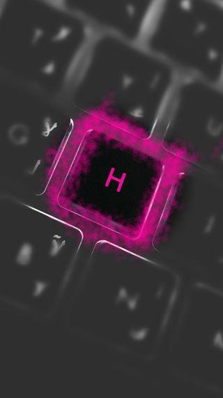 Обои на телефон буквы, розовые, letter h