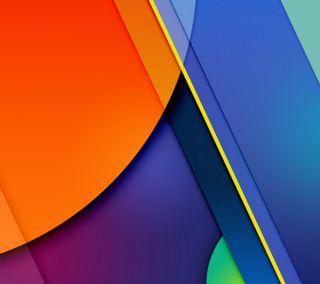 Обои на телефон синие, плоские, оранжевые, материал, дизайн, андроид, material 1602, lollipop, android